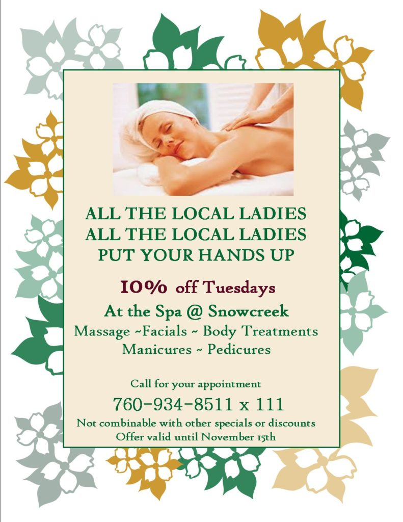 Double Eagle Spa Snowcreek Local Special