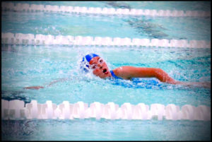 A picture of a child swimming
